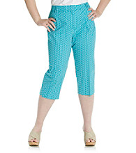 Briggs New York® Plus Size Perfect Fit Printed Capri