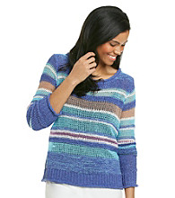 Nine West Vintage America Collection® Petites' Blossom Yarn Stripe Sweater