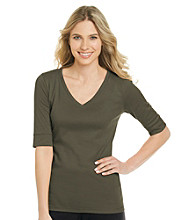 Jones New York Sport® Petites' V-Neck Solid Tee
