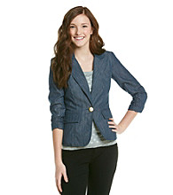 XOXO® Juniors' Chambray Blazer