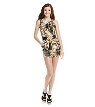 XOXO® Juniors' Animal Print Dress Romper