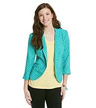 Sequin Hearts® Juniors' Polka Dot Print Jacket