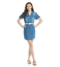 Sequin Hearts® Juniors' Chambray Belted Dress