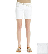 Wallflower Vintage® Juniors' Belted Rolled Cuff Short