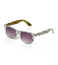 Icon Zebra And Leopard Pattern Retro Sunglasses