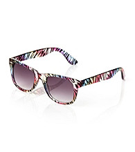 Icon Rainbow Zebra Pattern Retro Sunglasses