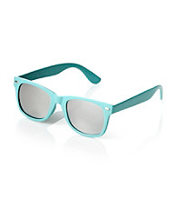 Icon Turquoise And Mirror Lens Retro Sunglasses