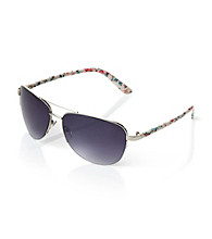 Icon Floral Aviator Sunglasses