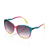 Icon Rainbow Pattern Cat Eye Sunglasses