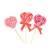 Hammond's Candies® Set of 3 Heart Shaped Assorted Lollipops