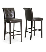 Baxton Studios Set of 2 Torrington Modern Bar Stools