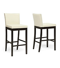 Baxton Studios Set of 2 Graymoor Modern Bar Stools