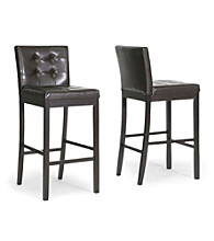 Baxton Studios Set of 2 Prospect Modern Bar Stools