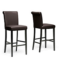 Baxton Studios Set of 2 Bianca Modern Bar Stools