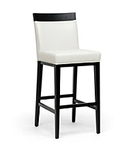 Baxton Studios Clymene Black Wood and Cream Modern Bar Stools