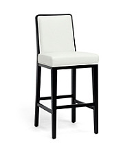 Baxton Studios Theia Black Wood and Cream Modern Bar Stools