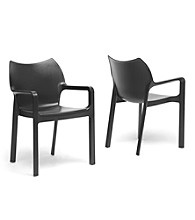 Baxton Studios Set of 2 Limerick Plastic Stackable Modern Dining Chairs