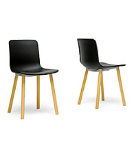 Baxton Studios Set of 2 Lyle Plastic Modern Dining Chairs