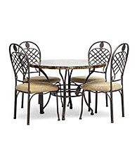 Baxton Studios Hera Brown 5-pc. Modern Dining Room Collection