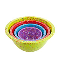 Zak Designs® 4-pc. Kiwi Confetti Nested bowl