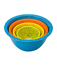 Zak Designs® 4-pc.Turquoise Confetti Nested bowl Set