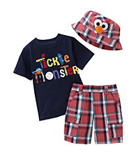 Nannette® Boys' 12M-4T Red 3-pc. Elmo Short Set with Hat