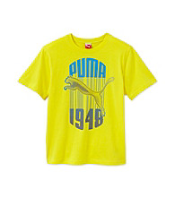 PUMA® Boys' 8-20 Yellow Short Sleeve 1948 Drip Tee