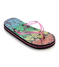 Mambo® Girls' Rainbow Hearts Flip Flops