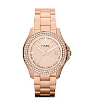 Fossil® Women's Retro Traveler Rose Goldtone Watch