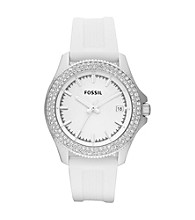 Fossil® Women's Retro Traveler White/Silvertone Watch