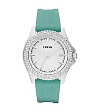 Fossil® Women's Retro Traveler Teal/Silvertone Watch