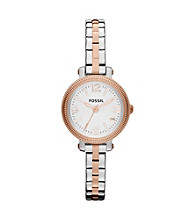 Fossil® Women's Mini Heather Two Tone Watch