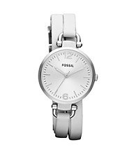 Fossil® Women's Georgia Silvertone Watch