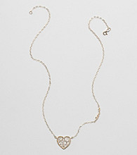 10K Yellow Gold Filigree Heart