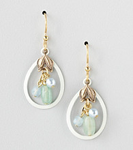 Silver Forest® Beaded Hoop Drop Earrings