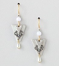 Silver Forest® Layered Two-Tone Drop Earrings