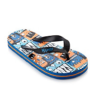 Mambo® Boys' Monster Print Flip Flops