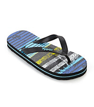 Mambo® Boys' Striped Flip Flops