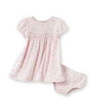 Cuddle Bear® Baby Girls' Pink 2-pc. Floral Print Smocked Dress Set