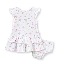 Cuddle Bear® Baby Girls' 2-pc. Butterfly Print Tiered Dress Set