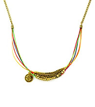 BCBGeneration™ Polished Gold and Rainbow Multi Statement Necklace