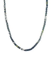 BCBGeneration™ Polished Silvertone Blue and Lime Layering Pieces Necklace