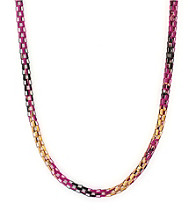 BCBGeneration™ Polished Goldtone Black and Fuchsia Layering Pieces Necklace