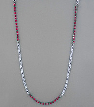 BCBGeneration™ Chain and Pink Stud Necklace