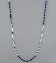 BCBGeneration™ Chain and Blue Stud Necklace