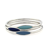 BCBGeneration™ Polished Silver Color Me Bad Bangles