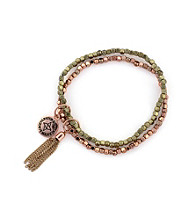 BCBGeneration™ Polished Rose Goldtone Beaded Bracelet