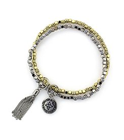 BCBGeneration™ Polished Silvertone and Goldtone Beaded Bracelet