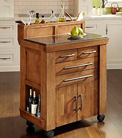 Homestyles® Caramel Vintage Rustic Gourmet Kitchen Cart