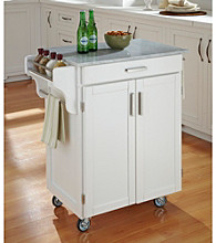 Homestyles® White Finish Gourmet Cart